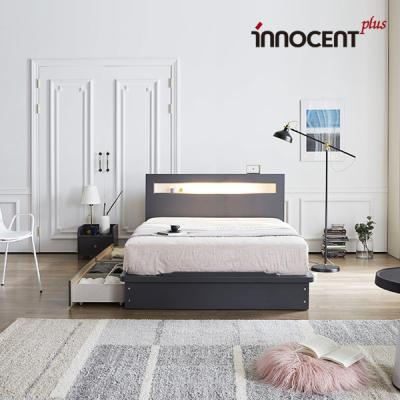 [이노센트] 리브 메시아 LED 큰서랍 침대 Q/K