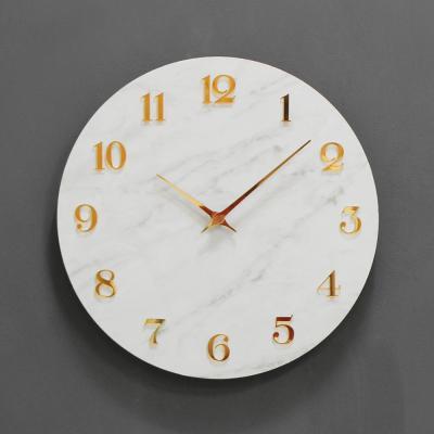 (khyn002)저소음 대리석디자인 시계 숫자 (W)