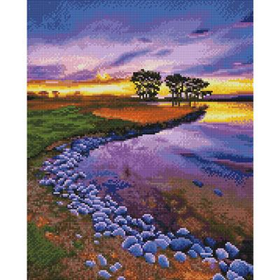 아름다운 호수 (캔버스형) 보석십자수 40x50