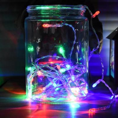 LED 50P 건전지(밧데리) 투명선 칼라