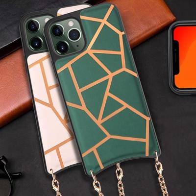 아이폰SE2 8 7PLUS 패턴 엠보싱 핸드폰 목걸이 케이스