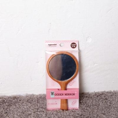 원목 손거울 원형 미용거울 휴대용 미니거울