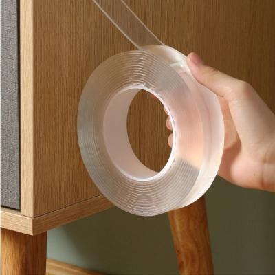 흔적없는 양면 투명 방수실리콘 강력테이프 3x5cm