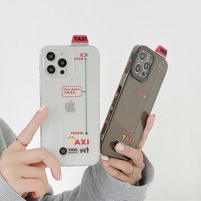 아이폰12 미니 11 프로 맥스 택시 투명 핸드폰 케이스