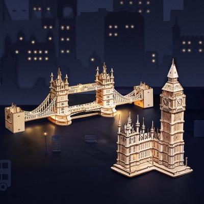DIY 나무조립 런던 타워브릿지 빅벤 인테리어 소품