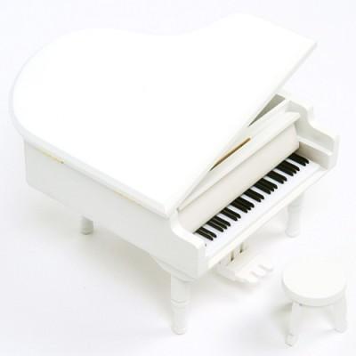 New 그랜드 피아노 오르골(화이트)