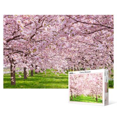 1000피스 직소퍼즐 - 분홍빛으로 물든 벚꽃길