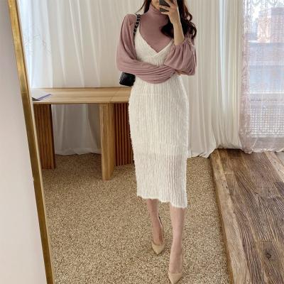 Feather Cami Long Dress