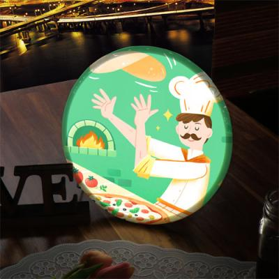 nh967-LED액자25R_맛있는거해줄게(피자)