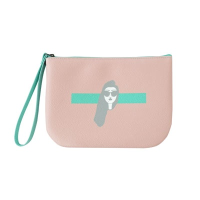HALF MOON POUCH PINK