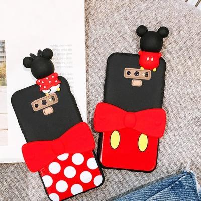 갤럭시노트10/플러스 커플 마우스 캐릭터 젤리 케이스