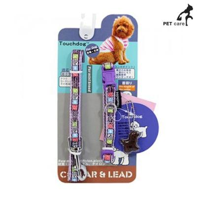 터치독 디자인 목줄 리드줄 (10mm) (바이올렛)