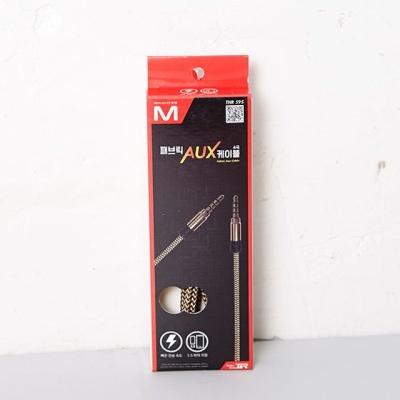 패브릭 AUX 케이블 색상랜덤 생활용품 충전기