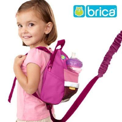 [브리카] 미아방지 가방-핑크