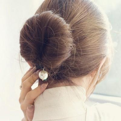 비비안느 진주 올림머리 스펀지 머리끈