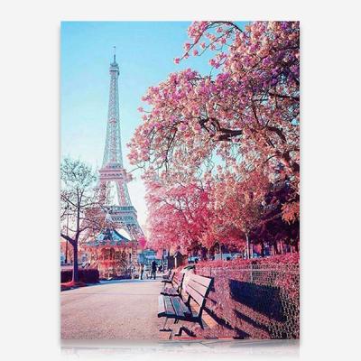 핑크꽃 에펠탑 DIY 보석십자수 십자수 비즈세트