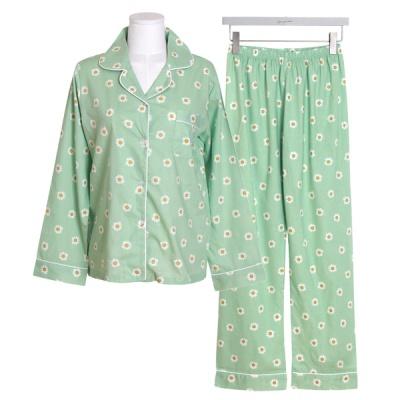 [쿠비카]플라워 프린팅 투피스 여성잠옷 W562