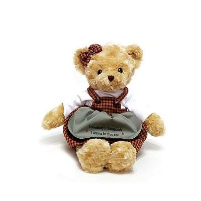 체크테디베어 브라운-여자곰 [사이즈선택]