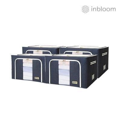 인블룸 4개세트 도트 리빙박스 66L 네이비