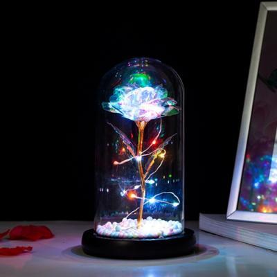 홀로그램 장미 LED 유리돔 플라워 꽃 크리스탈 무드등