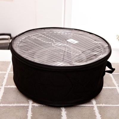캠핑용 가정용 원형 바비큐 숯불 석쇠 그릴 가방 세트