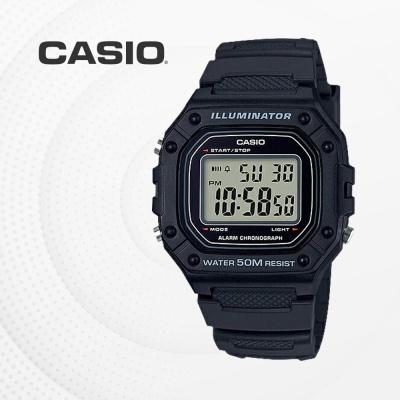 카시오 군인 군용 전자 남성 손목시계 W-218H-1A