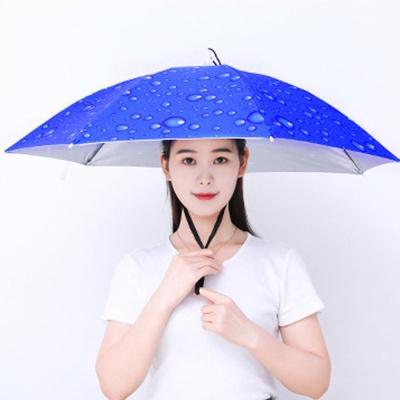 1+1 낚시 야외 햇빛가리개 모자우산 머리에 쓰는 양산