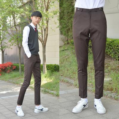 [빅사이즈] 허리조절 6.5통 스판 밤색 교복바지~4XL