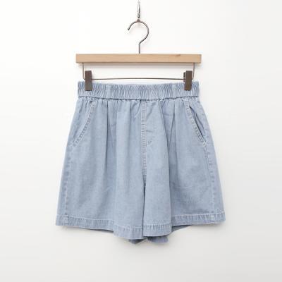 Light Denim Banding Shorts