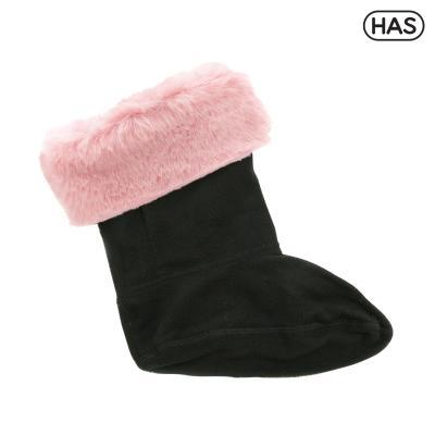[HAS] 레인부츠용 윈터 퍼 삭스 겨울양말 (핑크)