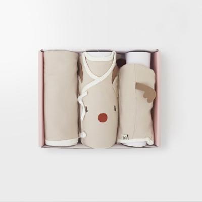 루돌프 출산선물세트(저고리+속싸개+모자)_겨울용
