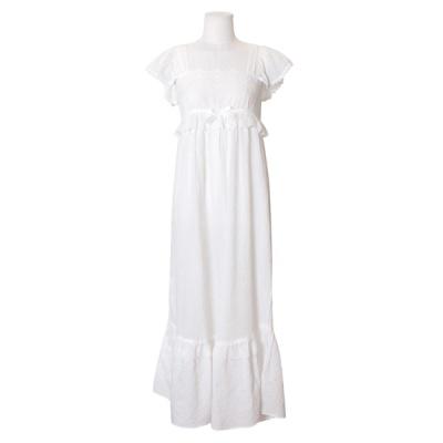 [쿠비카]바스트 라인 펀칭 롱 원피스 잠옷 W586