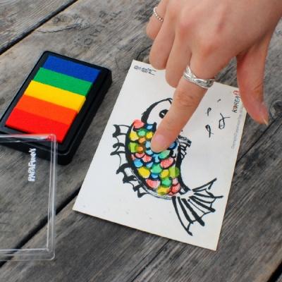 지문아트 엽서 만들기 DIY 키트 (전통디자인)