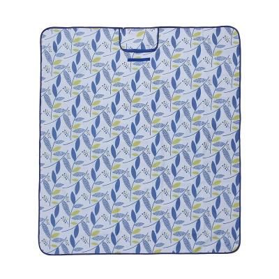 피크닉 나뭇잎 돗자리(145x200cm) (블루)