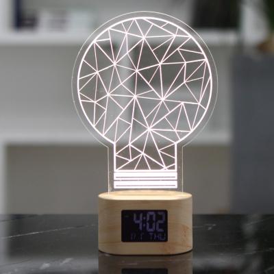 플라이토 아크릴 무드등 전구 LED 탁상시계
