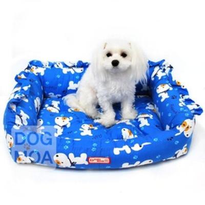 퍼피하우스 강아지 방석 침대 쿠션 매트 하우스 블루