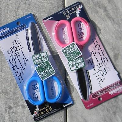 곡선형 칼날로 부드러운..나카바야시 SAKUtto Standard 불소코팅 가위 SF175