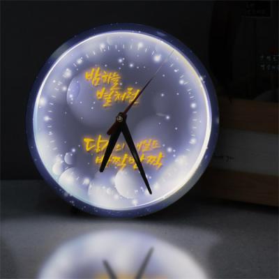 nf177-LED시계액자25R_밤하는별처럼