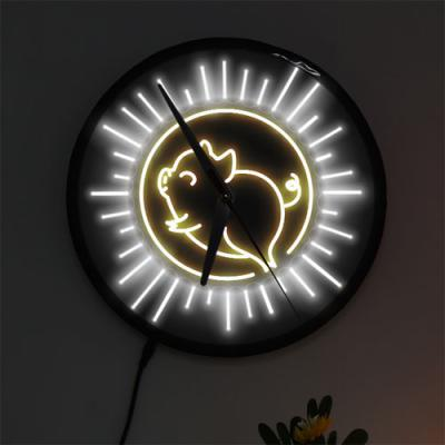 ng547-LED시계액자25R_밝게빛나는복돼지