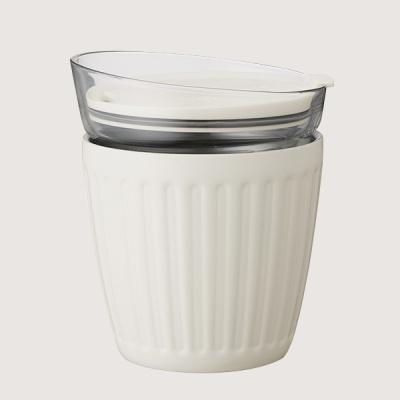 더블월 보온보냉 글라스 라떼컵 크림