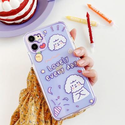 아이폰11 프로 맥스/큐티 애니멀 프린팅 젤리 케이스