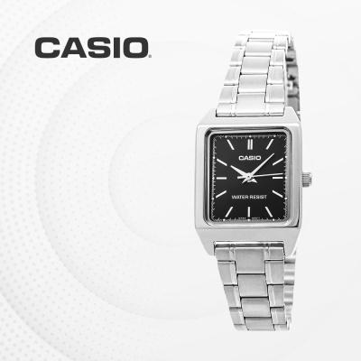 카시오 아날로그 메탈 여성 손목시계 LTP-V007D-1E
