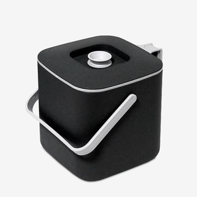 [생활엔] 담따 들기편리한 음식물쓰레기통 3L 블랙