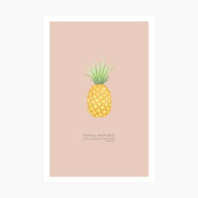 트로피칼 포스트카드 엽서 - Pineapple