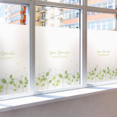 창문 유리창 시트지 칼라 안개시트지 초록새싹프릴01