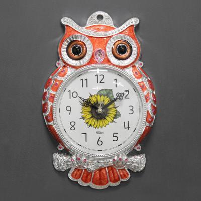 (kdyg016)저소음 해안부엉이시계 (오렌지)