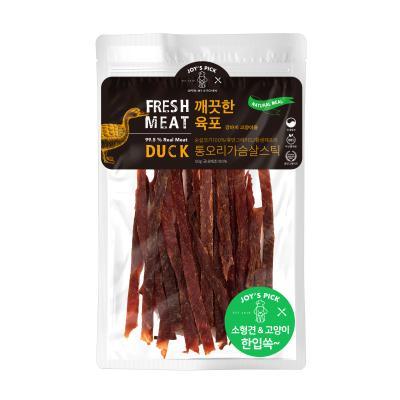 깨끗한 육포 통 오리 가슴살 강아지 스틱 간식 50g