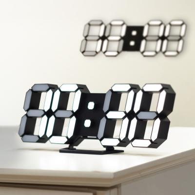 파베르 자동밝기센서인테리어 3D ED 탁상시계 벽