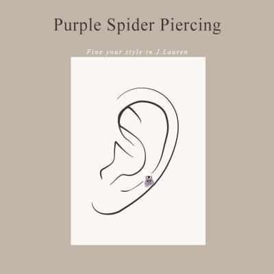 제이로렌 P0372 보라 거미 큐빅 써지컬 피어싱
