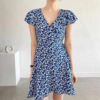 Blossom Wrap Mini Dress